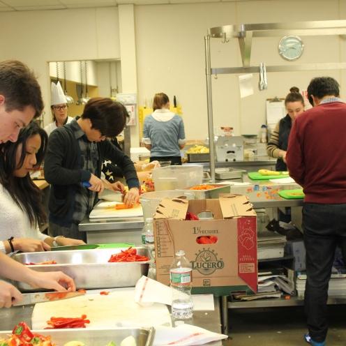 Working hard in the Stillman Kitchen