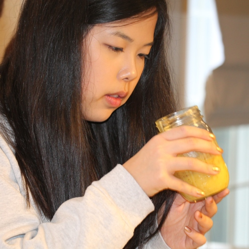 Lemon curd inspection by Christine
