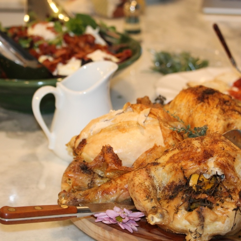 French herbed roasted chicken