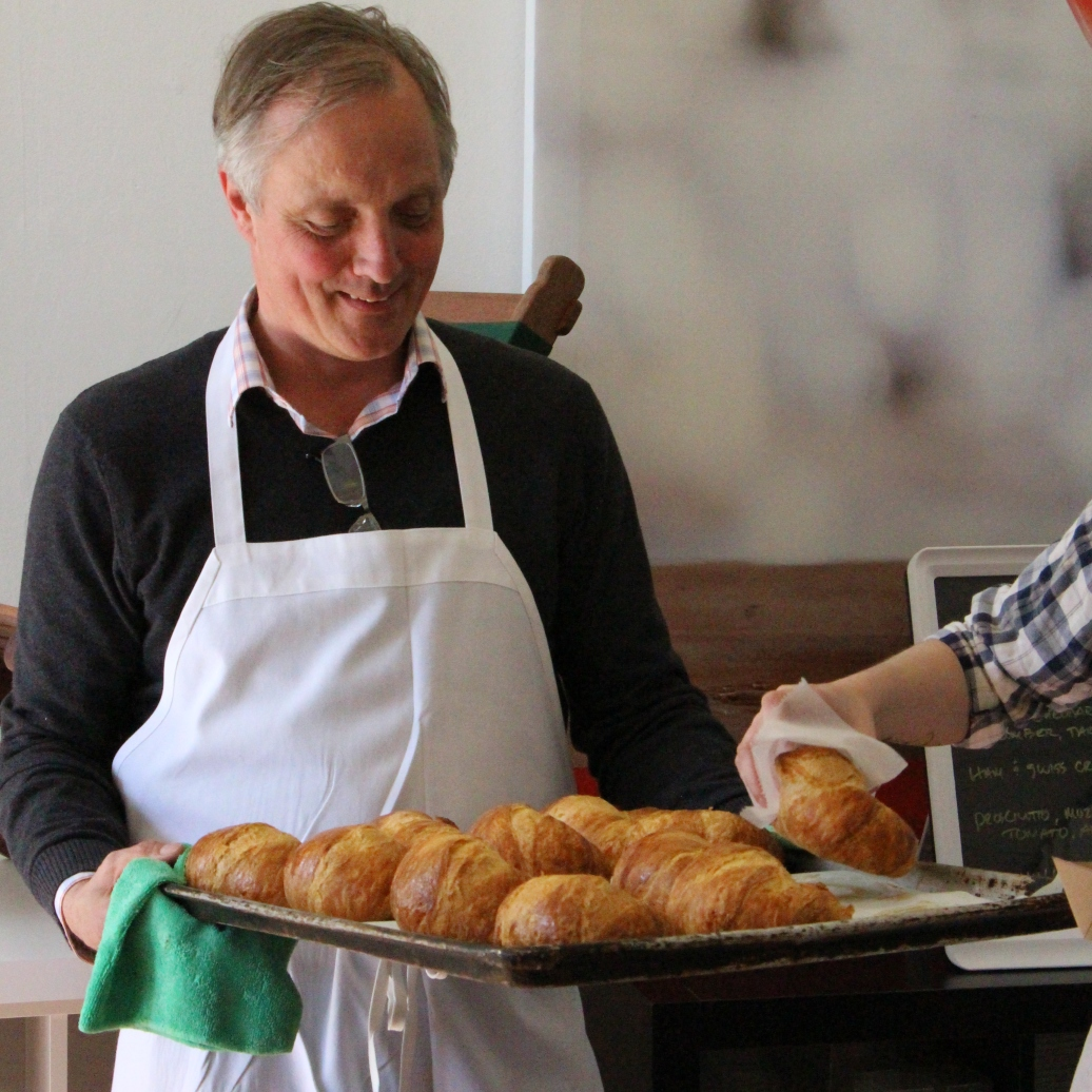 Fresh, flakey croissant