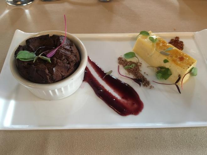 Dessert Duet: chocolate molten truffle cake