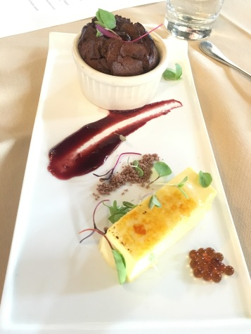 Kahlua Creme brûlée and kahlua caviar