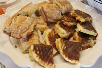 Proscuitto and cheese sandwiches