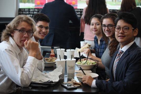 Ready to Eat! Arthur, Michael, Ella, Meagan, Sam