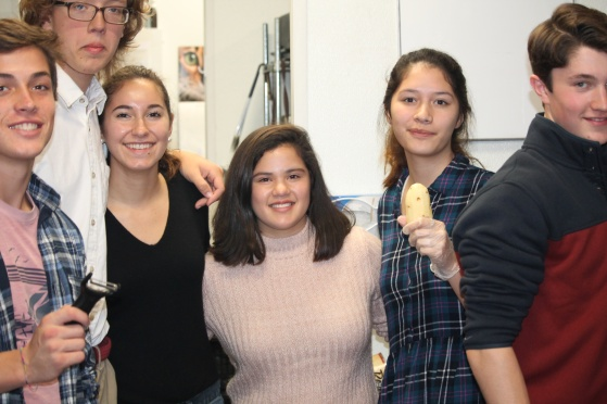 Arthur, Sydell, India, Ella and Dan made fries!