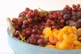 Dried apricots, grapes and almonds