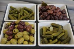 cornichons and olive assortment